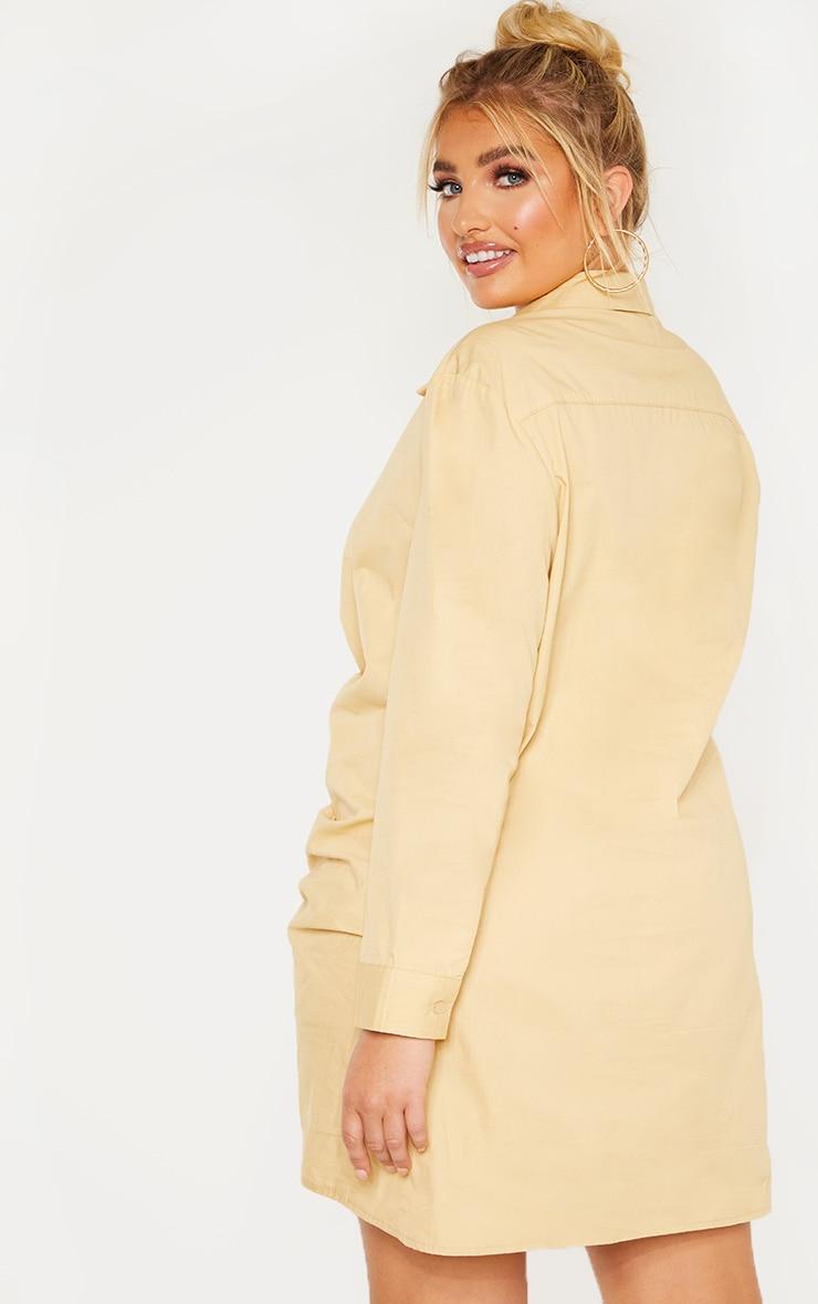 Plus Stone Pleat Detail Shirt Dress 2
