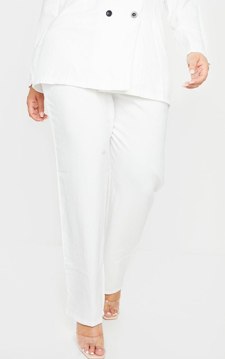 Plus White Straight Leg Trouser 2