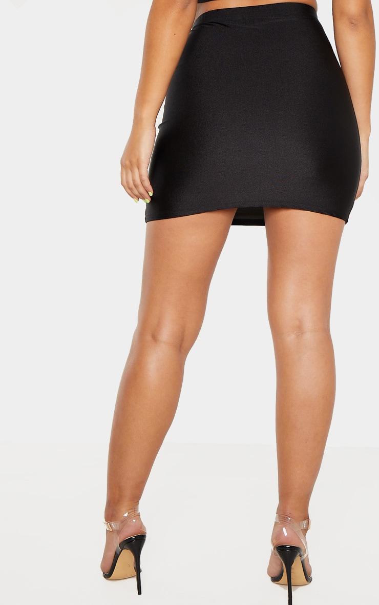 Mini-jupe disco noire 4