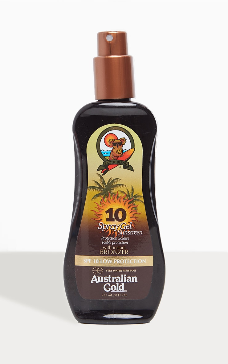 Australian Gold Spf 10 Spray Gel with Bronzer 1