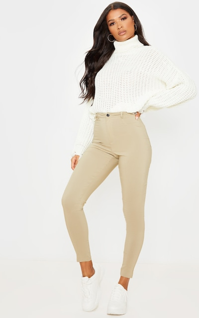 Camel Popper High Waisted Stretch Jegging