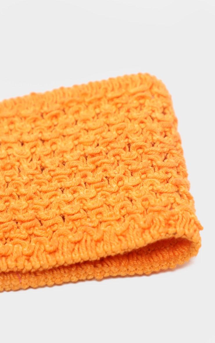 Orange Crochet Headband 3