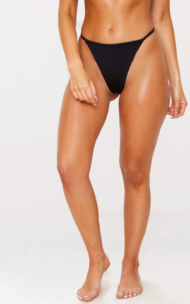 Black Mix & Match String Thong Bikini Bottom 2