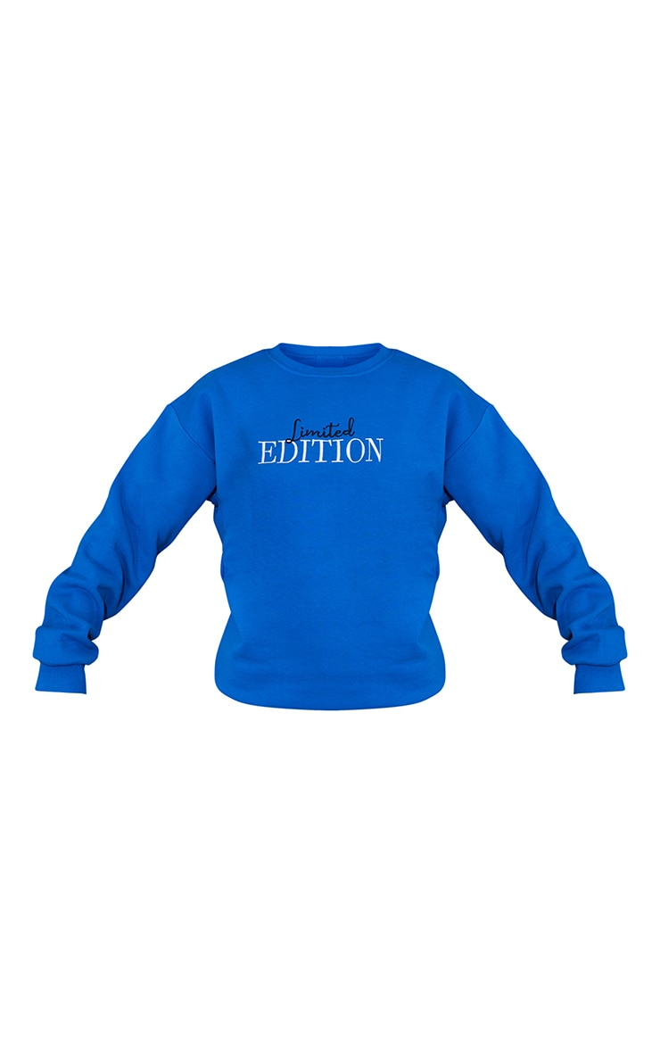Royal Blue Limited Edition Slogan Embroidered Sweatshirt 5