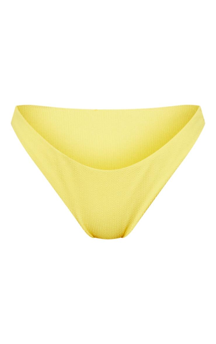 Yellow Mini Crinkle Bikini Bottom 4