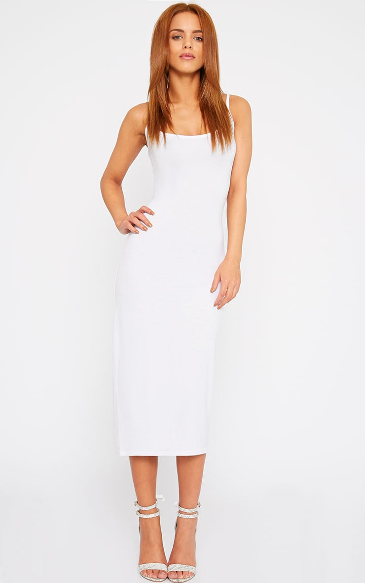 Basic White Midi Vest Dress 4