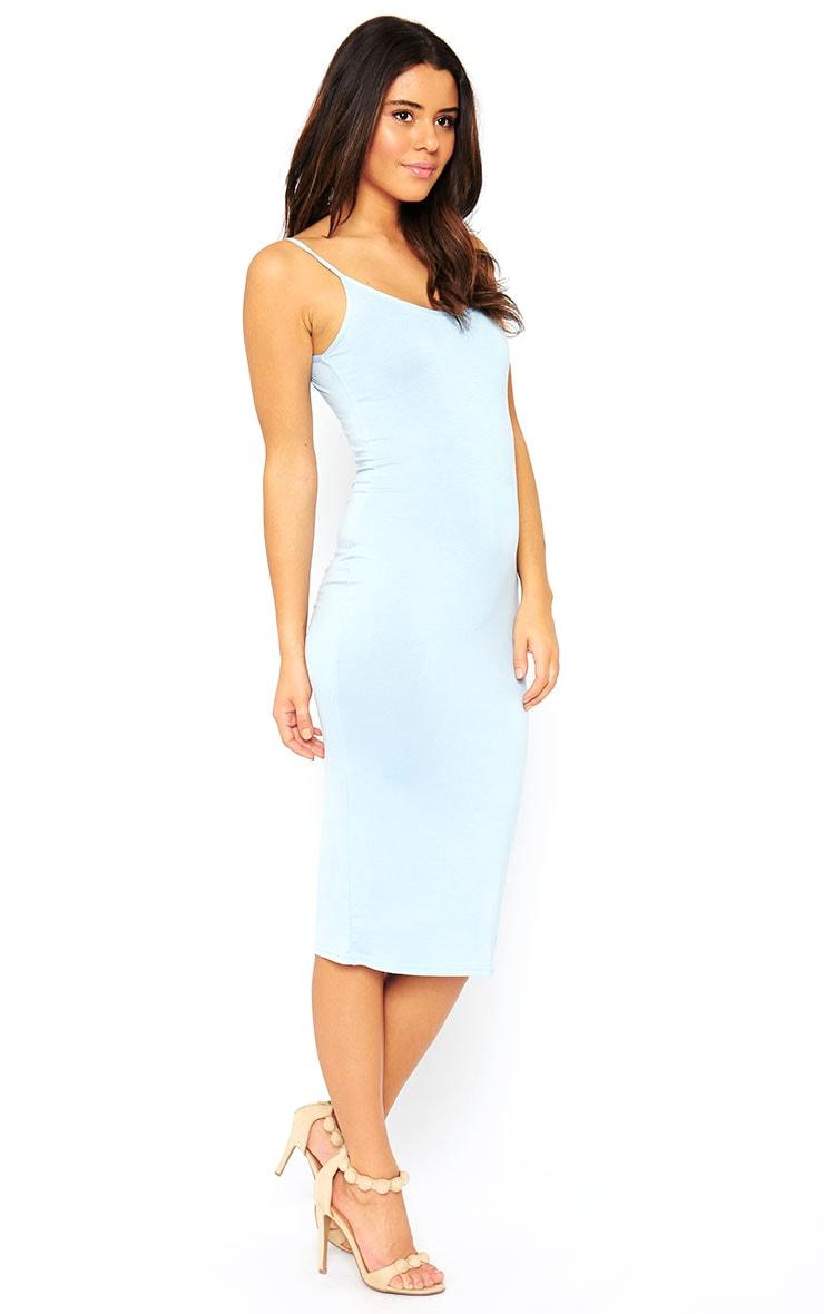 Basic Powder Blue Midi Vest Dress 5