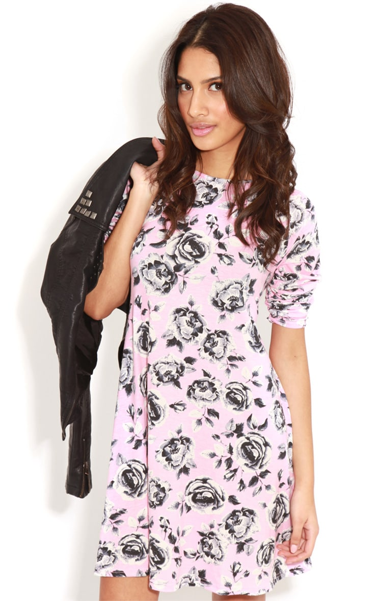Macie Pink Floral Swing Dress 3