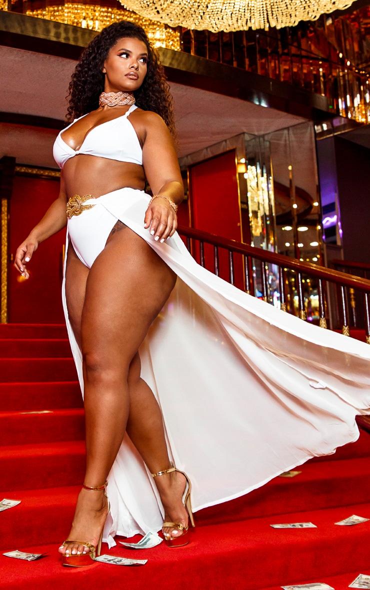 Shape Black Velvet High Waist Bodycon Skirt 2