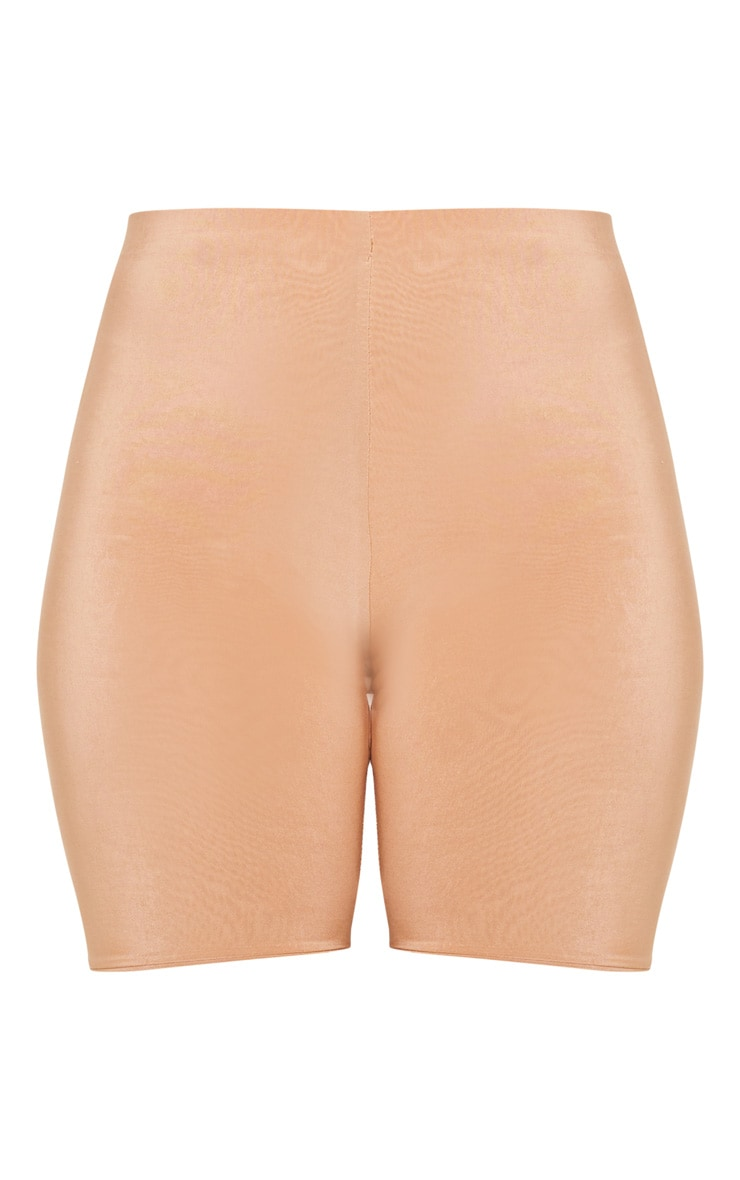 Bella Camel Slinky High Waisted Bike Shorts 6