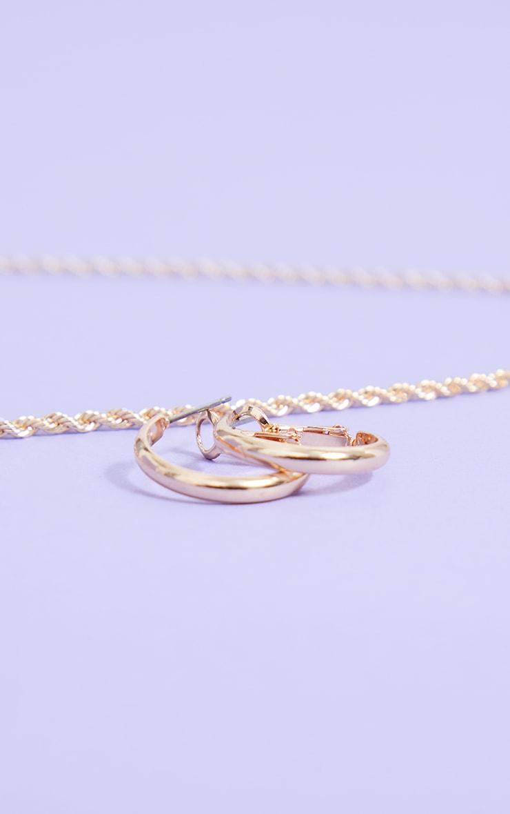 Gold Small Hoop Earrings  3