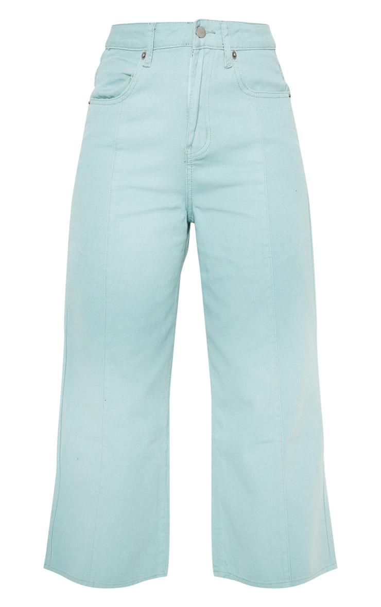 Sage Wide Cropped Jeans  3