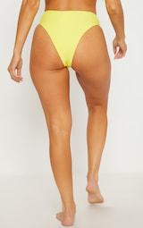 Yellow High Waisted Cheeky Bum Bikini Bottom 4