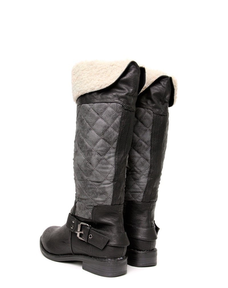 Manda Quilt & Shearling Knee Boot  4