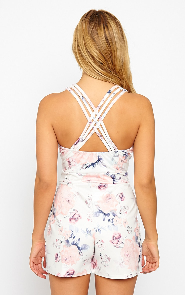 Pia Floral Print Cross Back Playsuit 2