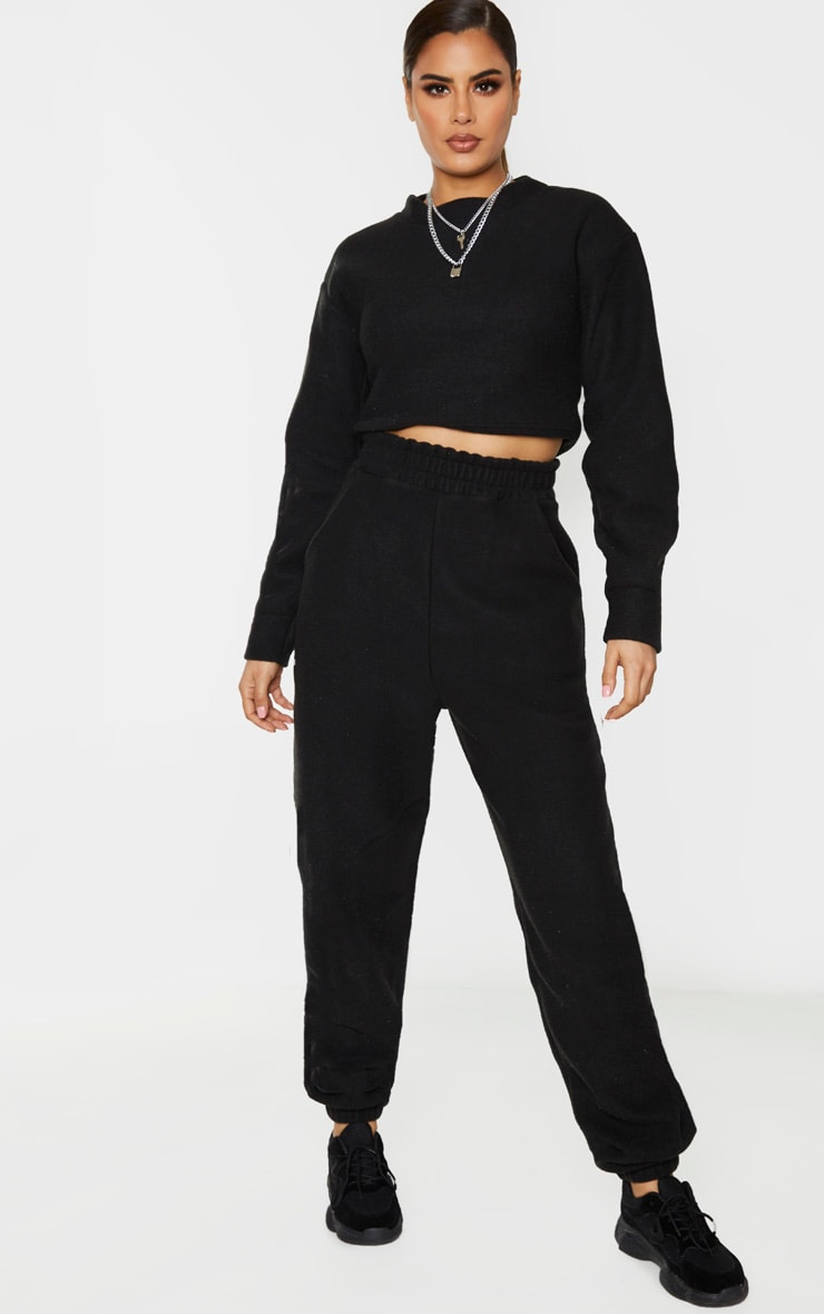 Tall Black Brushed Oversized Sweater 5