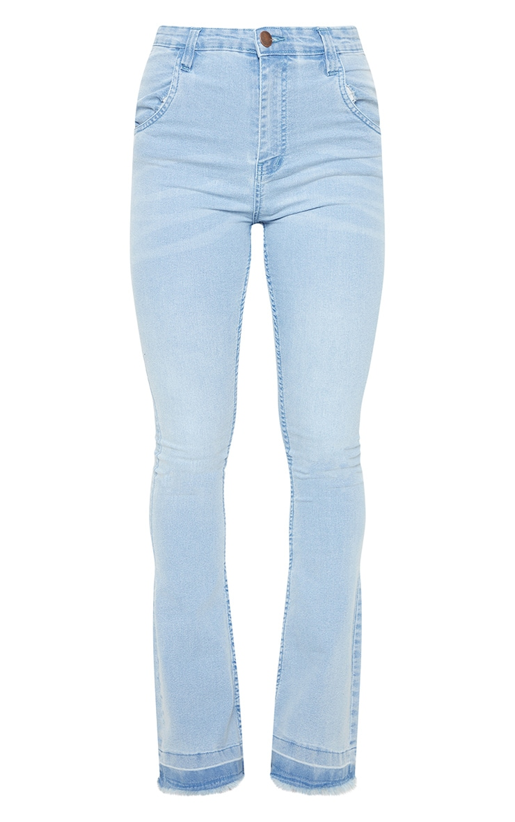 Flared Light Wash Jean 3