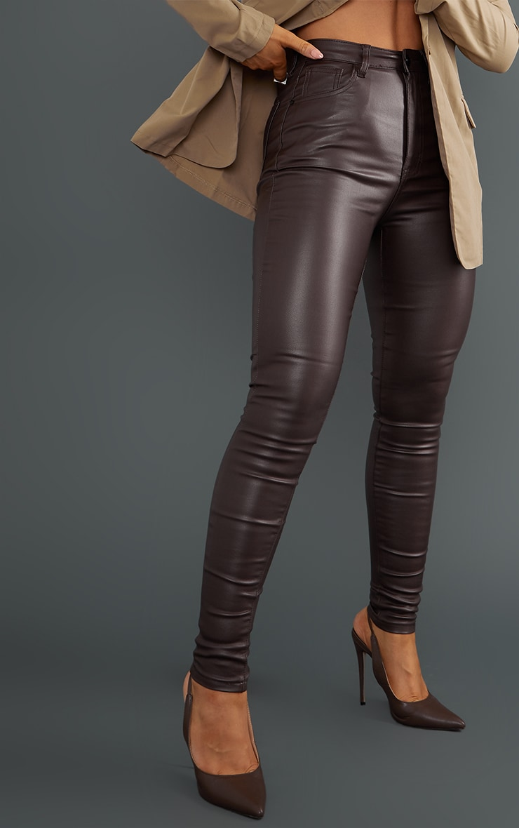 Chocolate Coated Skinny Jeans 4