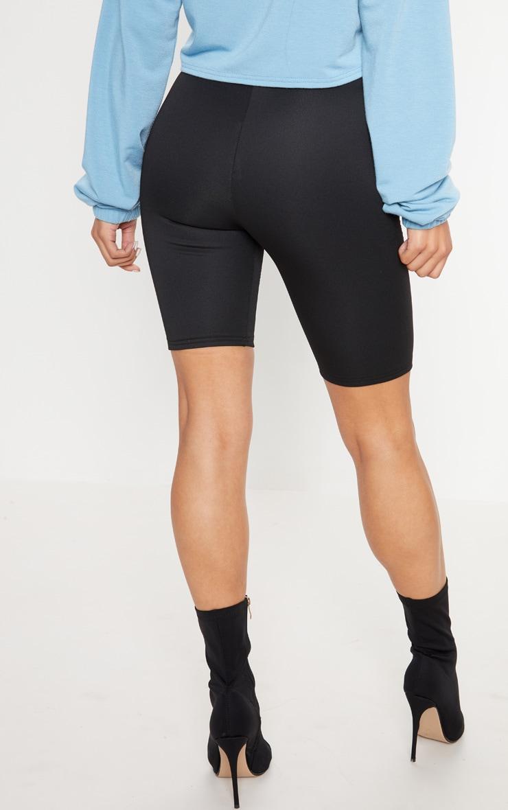 Black Digital Printed Scuba Bike Short 4