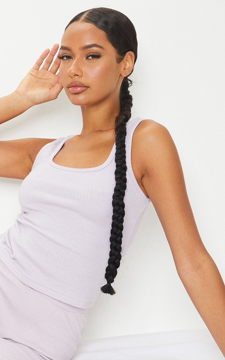 Lilac Structured Rib Racer Vest 4