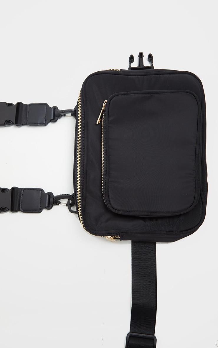 Black Nylon Harness Bag 2
