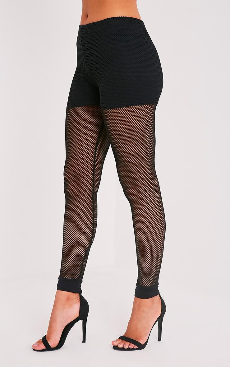 Andrea leggings en résille noirs 4
