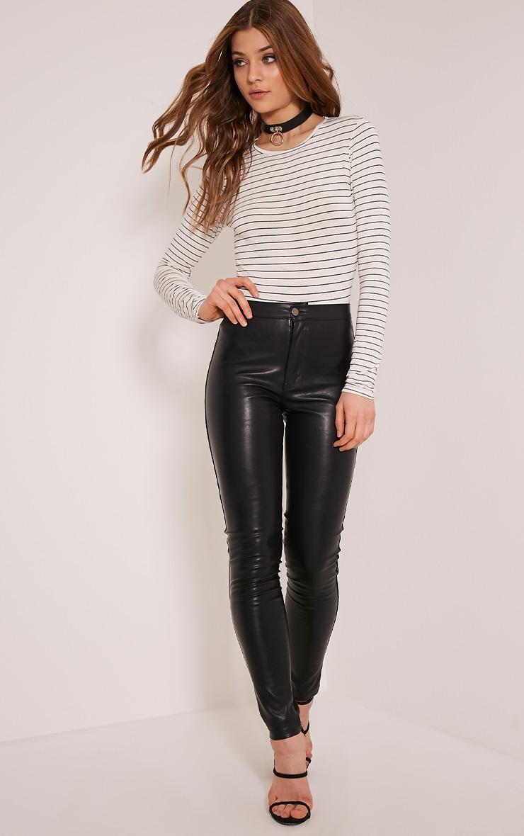 Gracey Cream Stripe Long Sleeve Bodysuit 2