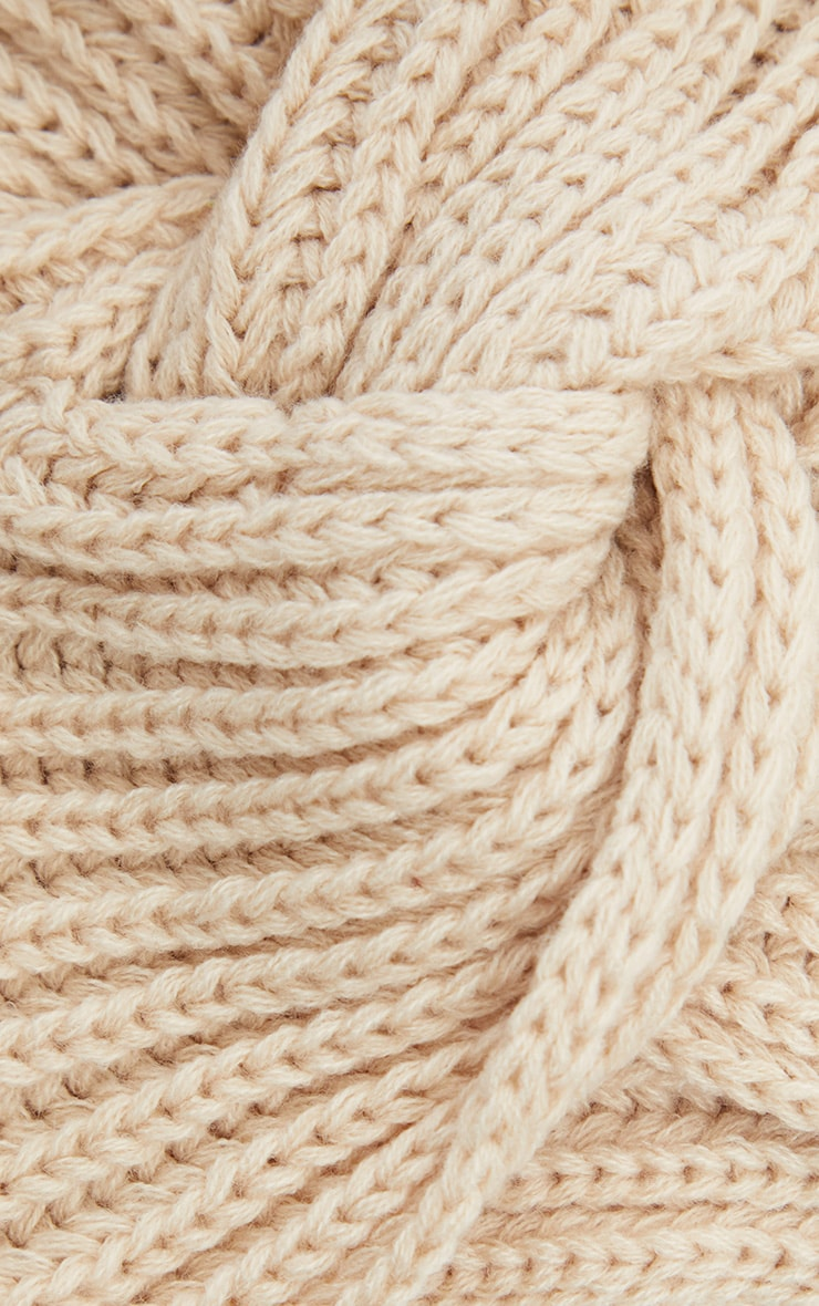 Cream Knitted Knot Turban 3