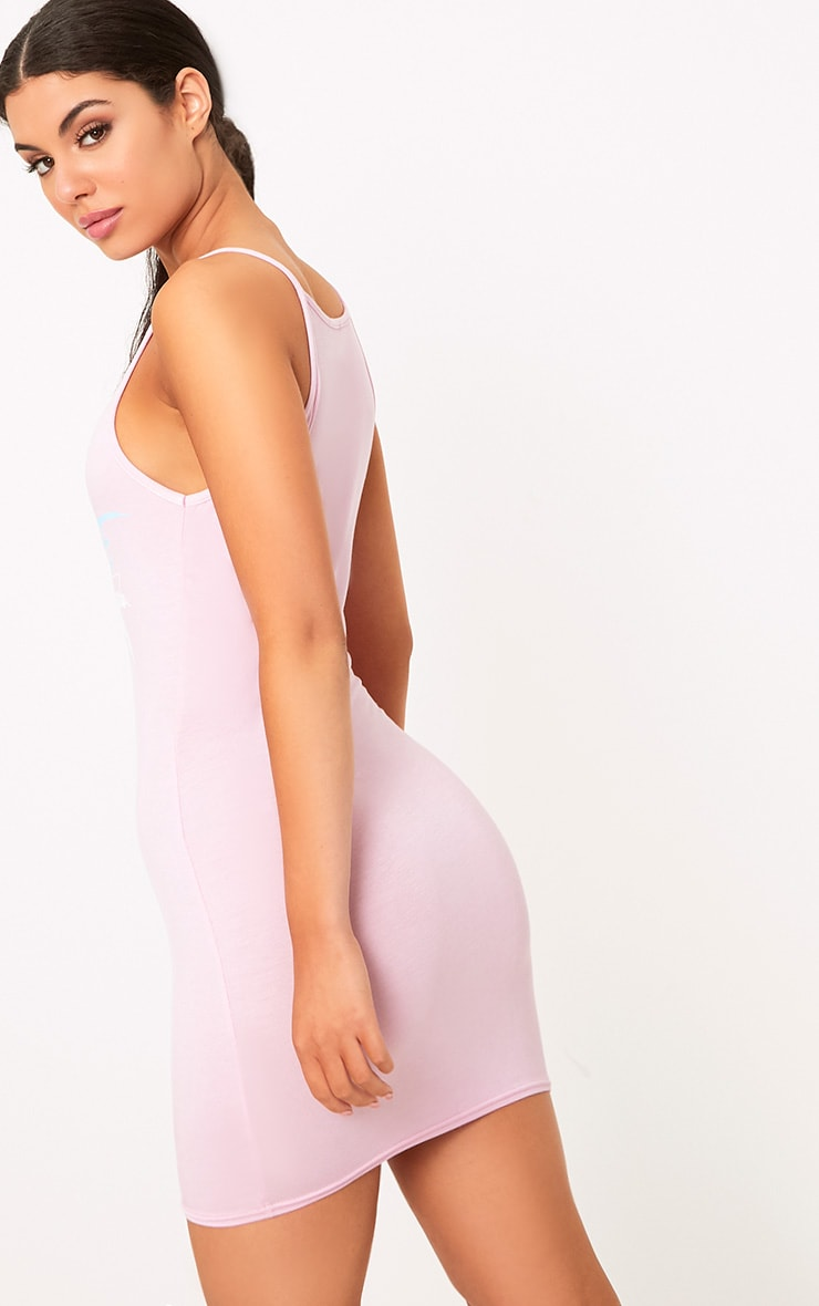 Baby Pink Paradise Island Strappy Bodycon Dress 2