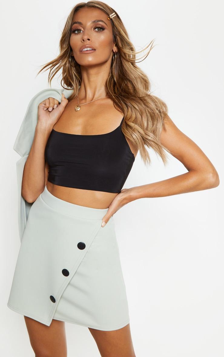 Sage Button Skirt 1