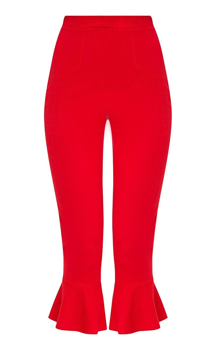 Red Flare Hem Trouser 3