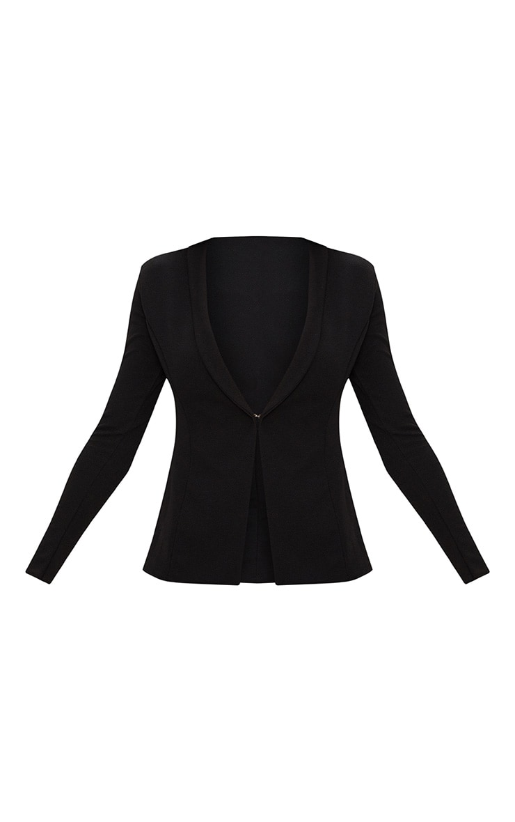 Black Lapel Hook and Eye Blazer 3