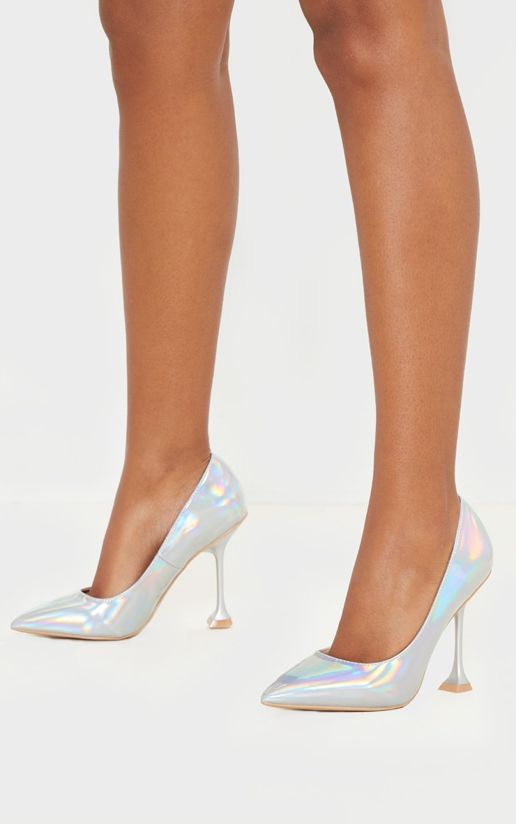 Holographic Cake Stand Heel Court Shoe 1