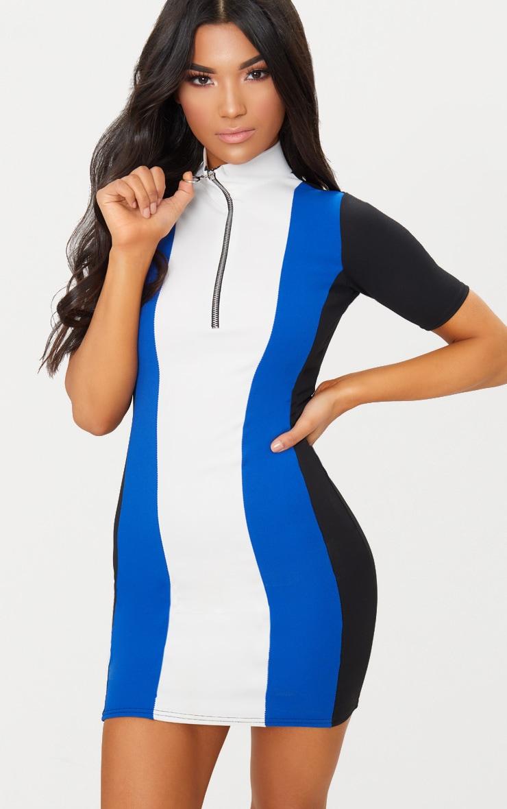Cobalt Motocross Ring Pull Dress 1