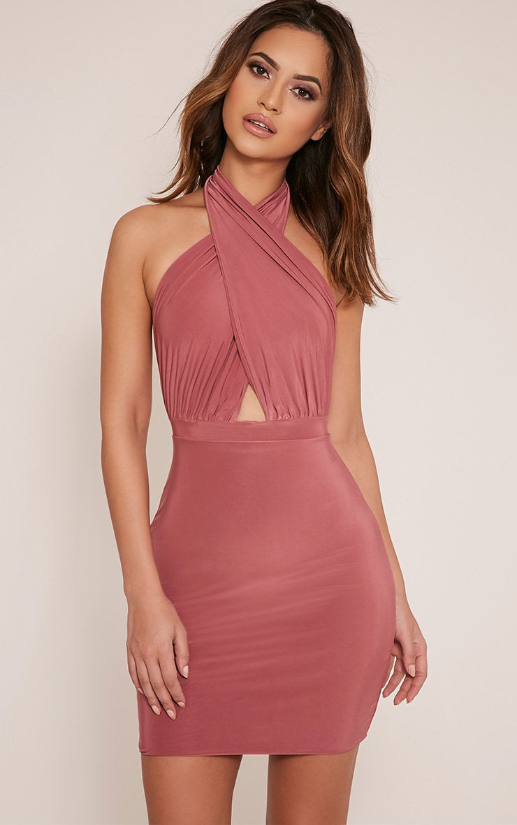 Marisa Rose Cross Front Mini Dress 1