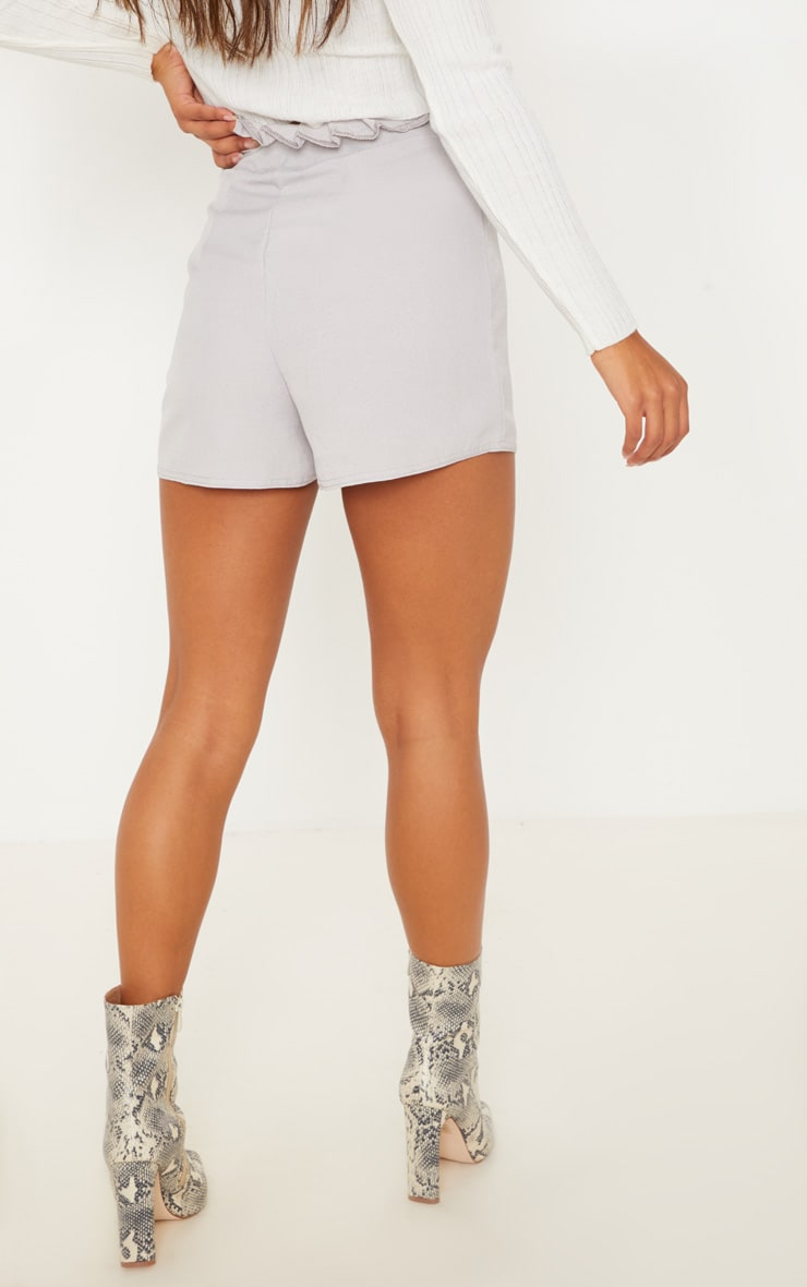Grey Button Front Short 4