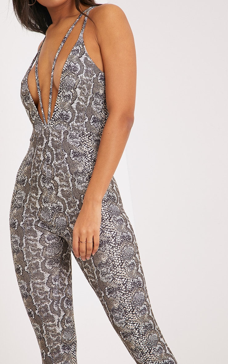Ina Snake Print Harness Jumpsuit 5