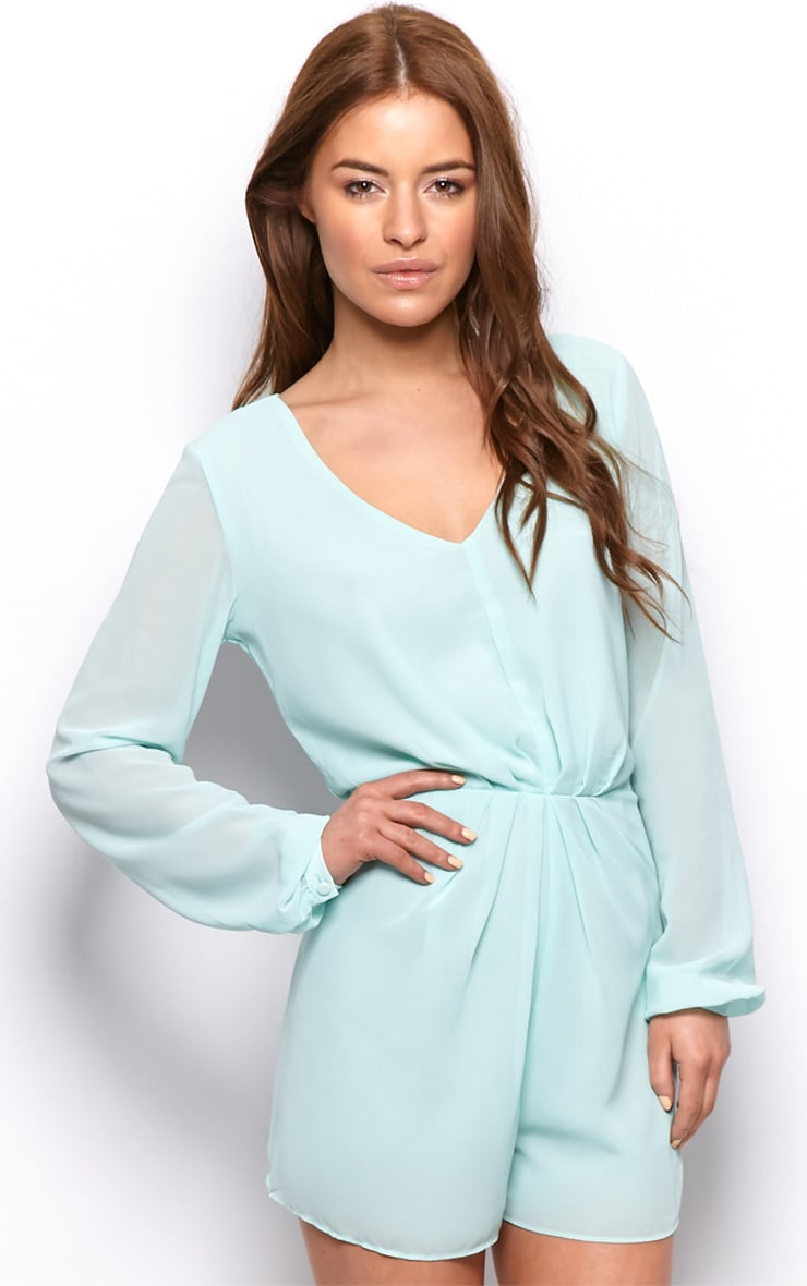 Alexandra Mint Chiffon Playsuit-14 1