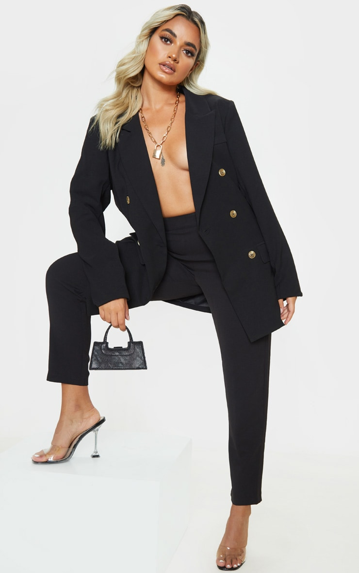 Petite Black Oversized Tailored Blazer 4