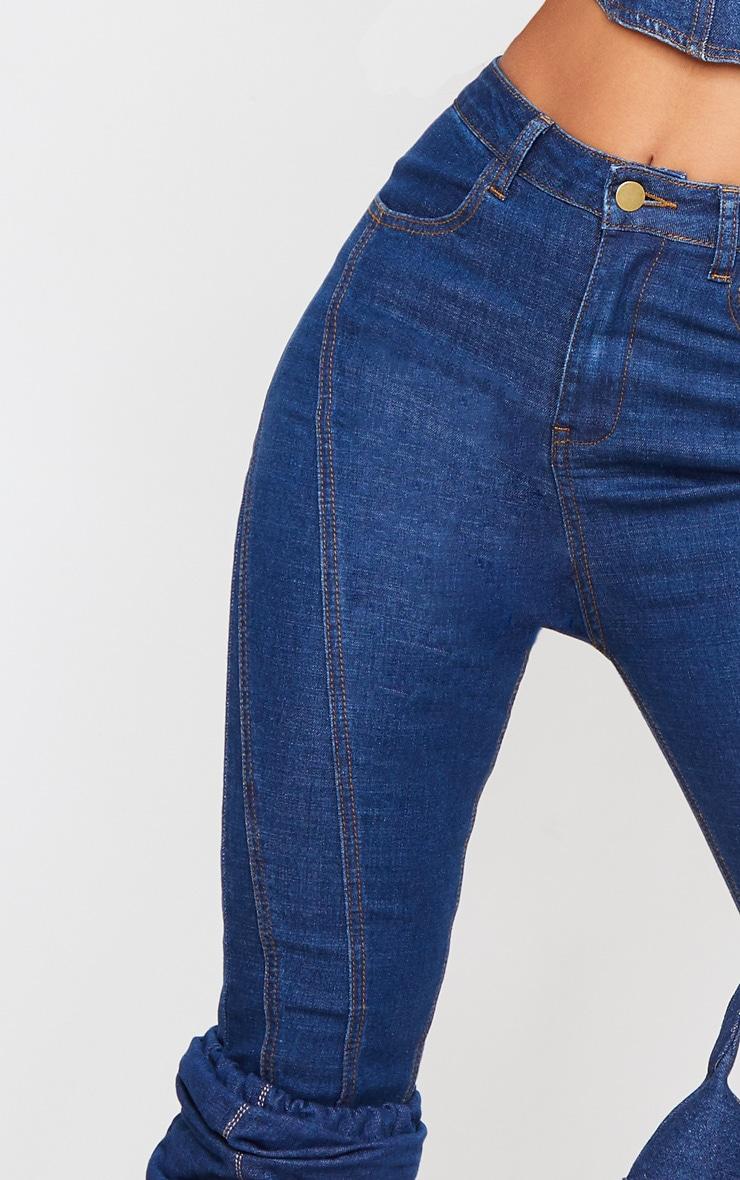 Mid Wash Seam Detail Skinny Jeans 5