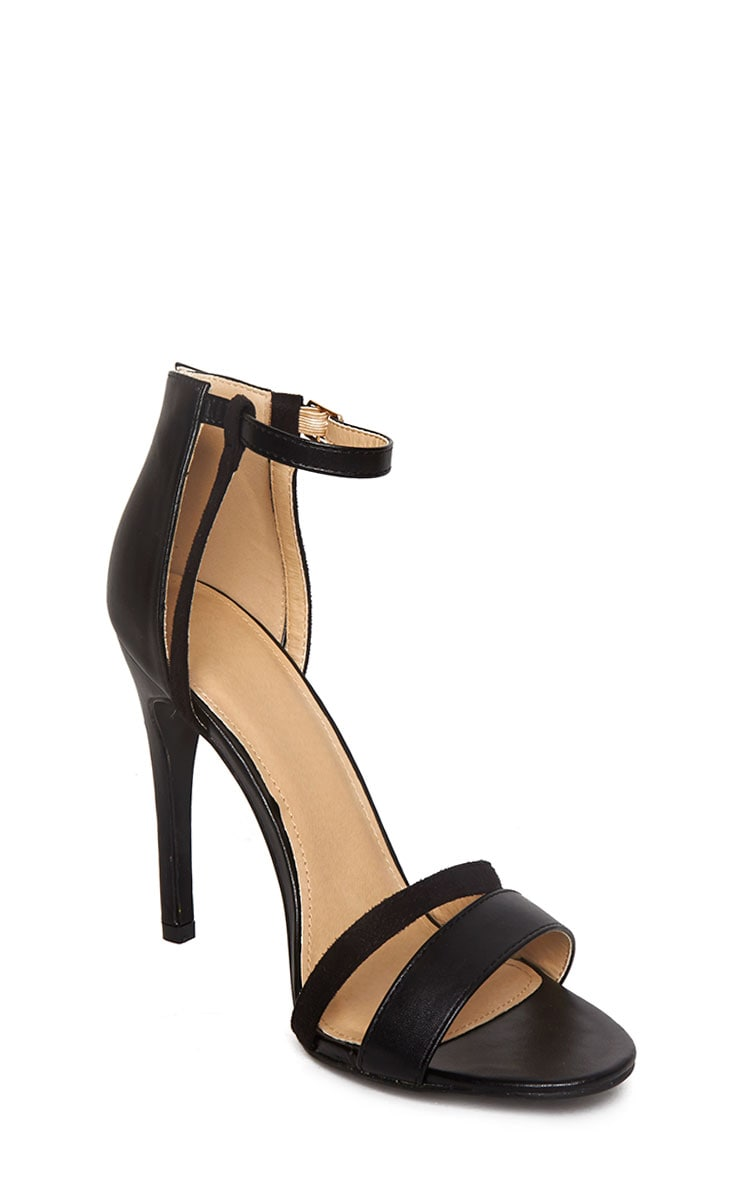 Cassia Black Strap Heeled Sandals 5