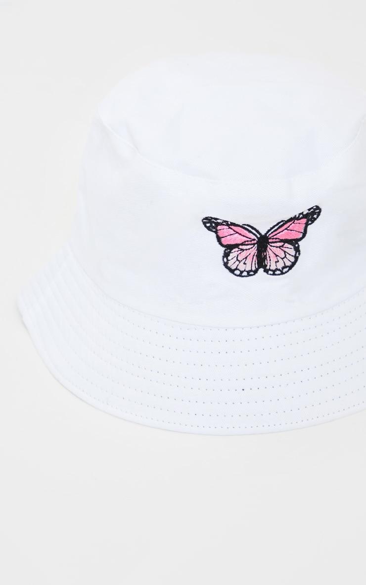 White Butterfly Bucket Hat 3