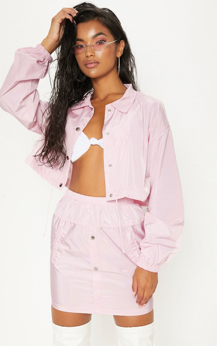 Pink Shell Suit Skirt