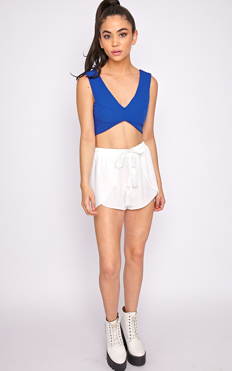 Rena White Tassel Tie Runner Short  5