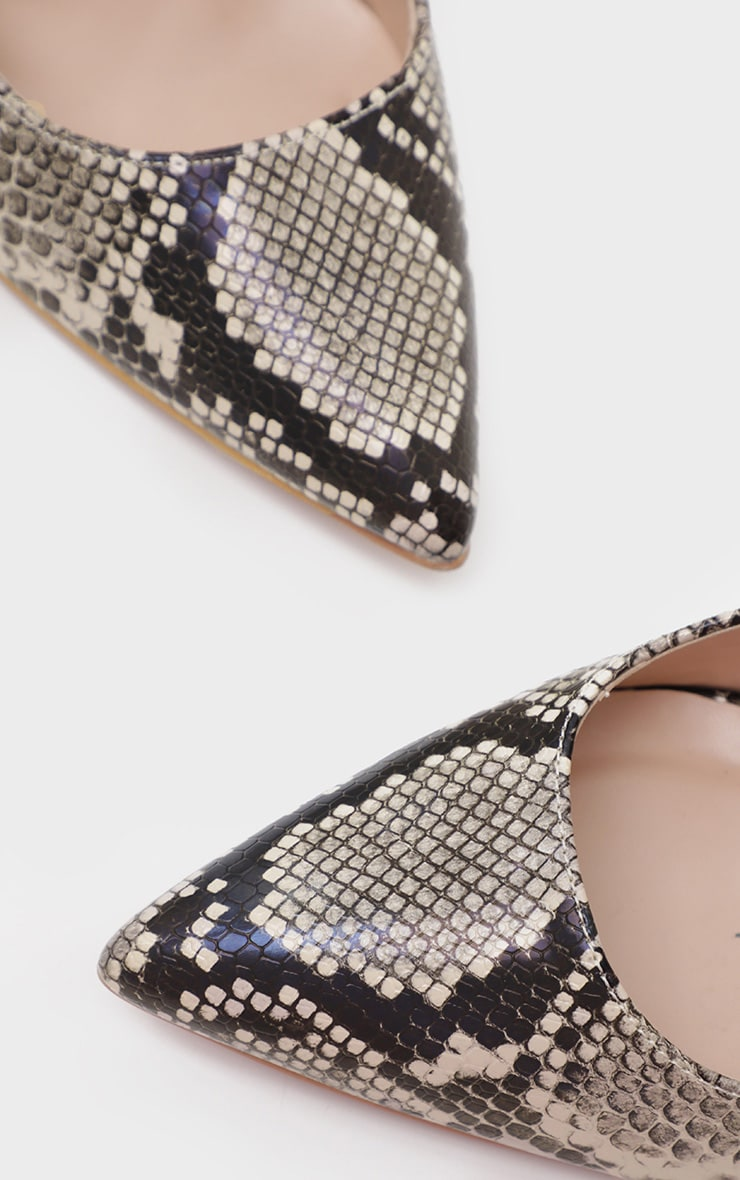 Snake Wide Fit Court Shoes 4