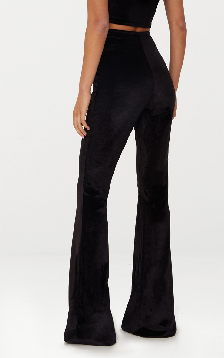 Black Velvet Flared Pants 4