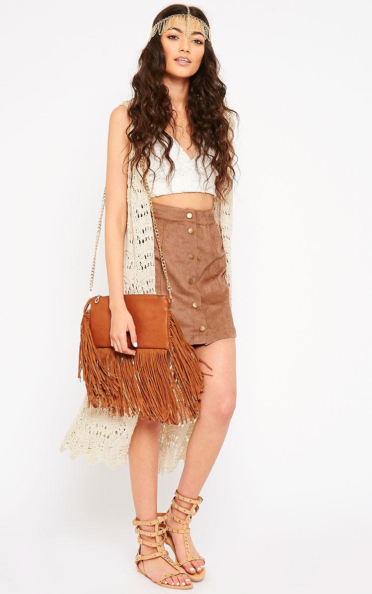 Cheryl Tan Suede Button Skirt 5