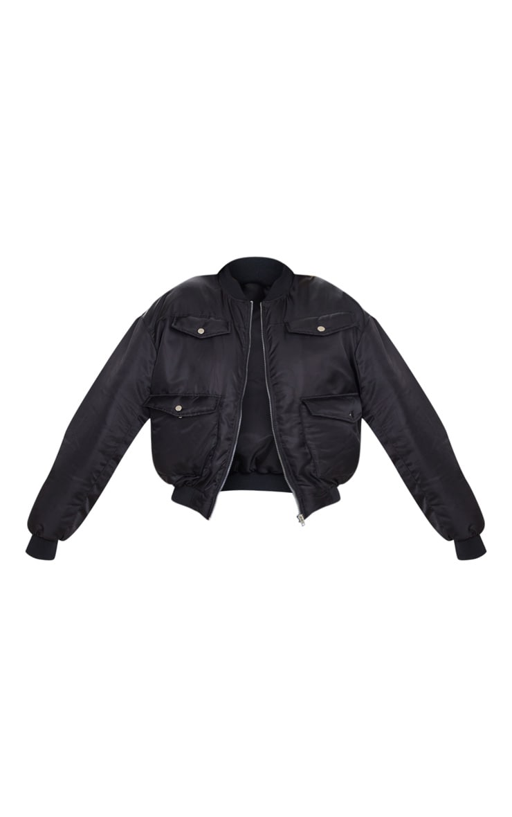 Black Oversized Bomber  5