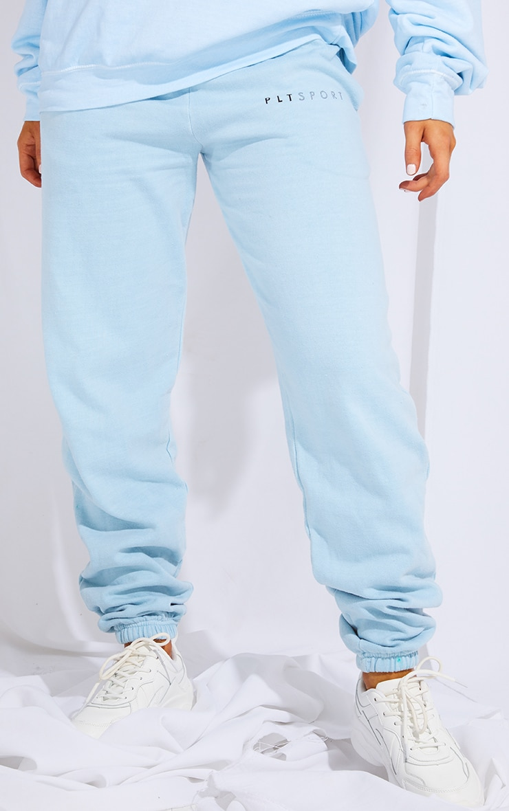 PRETTYLITTLETHING Light Blue Wash Sports Jogger 2