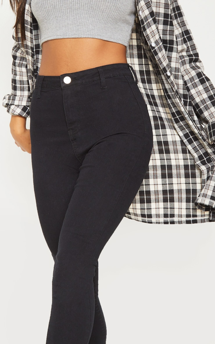 Black Basic High Waisted Disco Skinny 5